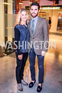 Michelle Joubran, Patrick Krieger, Teach for America Reception, 10-7-2014, Photo by Ben Droz