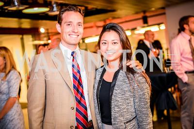 Hunter Gros, Jenny Nakamura, Teach for America Reception, 10-7-2014, Photo by Ben Droz