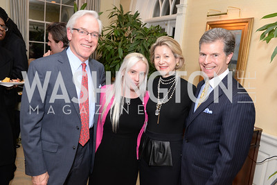 Christopher Ritzert, Helen Lyons, Christie Weiss, Jeff Weiss, Teach for America, Cocktails and Conversation, the Home of Katherine and David Bradley, Wednesday, November 5, 2014, photo by Ben Droz.