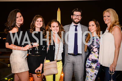 Hilary Halpern, Erica Flint, Becky Bavis, Mark Drapeau, Anastasia Dellaccio, Melanie Coburn, Grand Re-Opening of POV Lounge at the W Hotel, Friday September 12, 2014, Photo by Ben Droz.