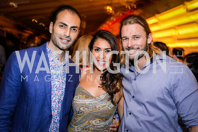 Omar Popal, Fatima Popal, Aaron Flavel, Grand Re-Opening of POV Lounge at the W Hotel, Friday September 12, 2014, Photo by Ben Droz.