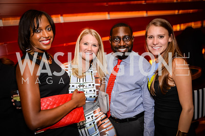 April Anderson, Molly Bryant, Blandon David, Ashleigh Oxner, Grand Re-Opening of POV Lounge at the W Hotel, Friday September 12, 2014, Photo by Ben Droz.