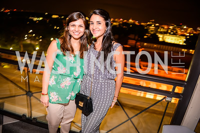 Florella Peirano, Clauria Sanchez Grand Re-Opening of POV Lounge at the W Hotel, Friday September 12, 2014, Photo by Ben Droz.