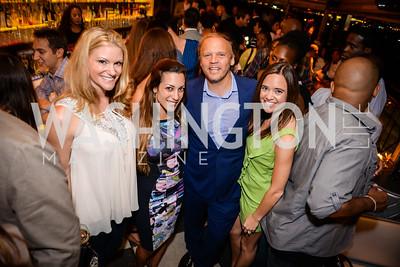 Melanie Coburn, Anastasia Dellaccio, Mark Ein, Sally Ein,  Grand Re-Opening of POV Lounge at the W Hotel, Friday September 12, 2014, Photo by Ben Droz.