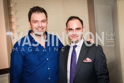 Sebastien Rondier, Kerem Kendigelen, Grand Re-Opening of POV Lounge at the W Hotel, Friday September 12, 2014, Photo by Ben Droz.