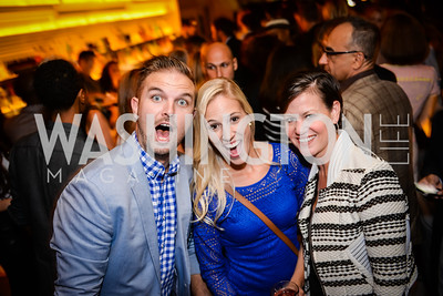 Tyler Gates, Heather Theunissen, Kathryn Rand, Grand Re-Opening of POV Lounge at the W Hotel, Friday September 12, 2014, Photo by Ben Droz.