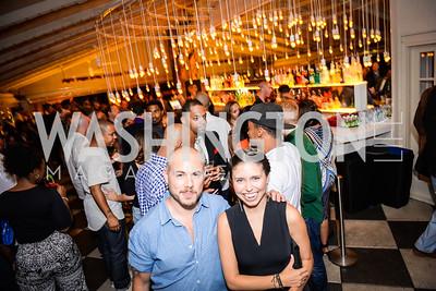 Mathew Ramsey, Nicole Aguirre, Grand Re-Opening of POV Lounge at the W Hotel, Friday September 12, 2014, Photo by Ben Droz.