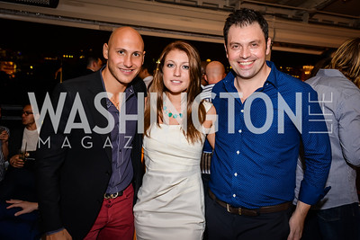 Jad Bou-Chebel, Roxanne Bannon, Sebastien Rondier,  Grand Re-Opening of POV Lounge at the W Hotel, Friday September 12, 2014, Photo by Ben Droz.
