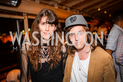 Mariah Dickinson,  John Thornley, US Royalty,  Grand Re-Opening of POV Lounge at the W Hotel, Friday September 12, 2014, Photo by Ben Droz.