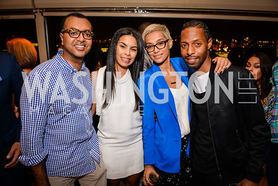 Abiye Abebe, Kheira Benkreira, Emily Villalva, Quincy Jones, Grand Re-Opening of POV Lounge at the W Hotel, Friday September 12, 2014, Photo by Ben Droz.