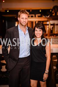 Matt Landsberg, Teresa Niemiec, Grand Re-Opening of POV Lounge at the W Hotel, Friday September 12, 2014, Photo by Ben Droz.