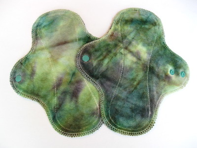 """TWO Light Wrap Wing Pads - """"moss"""""""
