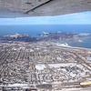 Lake Michigan, and industrial plants at East Chicago, Indiana