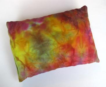 "Travel Size Bamboo Fleece Pillow - ""rainbow mystic gem"""