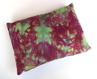 "Travel Size Bamboo Fleece Pillow - ""watermelon ice dye"""