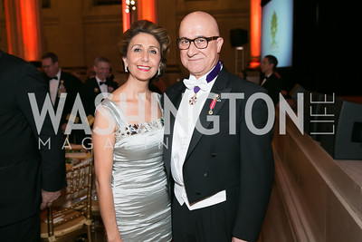 Gissou Kian,Bijan Kian. Photo by Alfredo Flores. Fifth Annual Nowruz Commission Gala. Andrew W. Mellon Auditorium. March 15, 2014