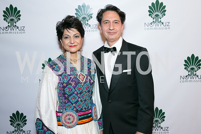 Said Jawad, Shamim Jawad. Photo by Alfredo Flores. Fifth Annual Nowruz Commission Gala. Andrew W. Mellon Auditorium. March 15, 2014