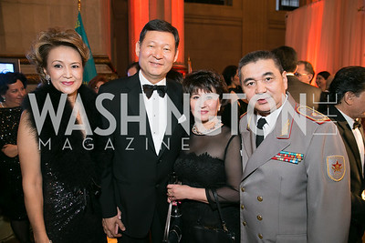 Gatiya Umarova, Kairat Umarov, Urzhamal Syzdynova, Rakhtiyar Syzdynov. Photo by Alfredo Flores. Fifth Annual Nowruz Commission Gala. Andrew W. Mellon Auditorium. March 15, 2014