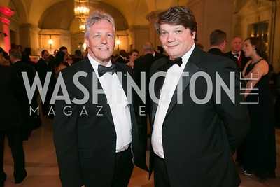 Peter Robinson, Jeremy Gardner. Photo by Alfredo Flores. Fifth Annual Nowruz Commission Gala. Andrew W. Mellon Auditorium. March 15, 2014