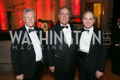 The Right Honourable First Minister of Northern Ireland, Peter Robinson ; Doctor Asad Kazeminy ; The Honorable Judge Louis Freeh. Photo by Alfredo Flores. Fifth Annual Nowruz Commission Gala. Andrew W. Mellon Auditorium. March 15, 2014