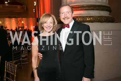 Joyce White, Gary White. Photo by Alfredo Flores. Fifth Annual Nowruz Commission Gala. Andrew W. Mellon Auditorium. March 15, 2014