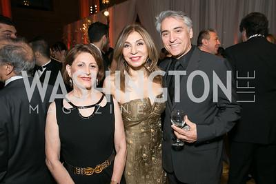 Minoo Lari, Kouri Kalilian, Serge Sira. Photo by Alfredo Flores. Fifth Annual Nowruz Commission Gala. Andrew W. Mellon Auditorium. March 15, 2014