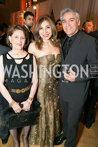 Minoo Lari, Kouri Kalilian, Serge Sira. Photo by Alfredo Flores. Fifth Annual Nowruz Commission Gala. Andrew W. Mellon Auditorium. March 15, 2014