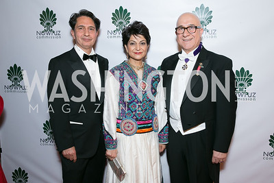 Said Jawad, Shamim Jawad, Bijan Kian. Photo by Alfredo Flores. Fifth Annual Nowruz Commission Gala. Andrew W. Mellon Auditorium. March 15, 2014