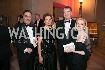 Peter Saleh, Sheila Saleh, Maurizio Pozzi, Antonella Lo Re. Photo by Alfredo Flores. Fifth Annual Nowruz Commission Gala. Andrew W. Mellon Auditorium. March 15, 2014