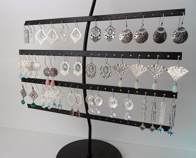 Assortment of My Fine Silver Earrings