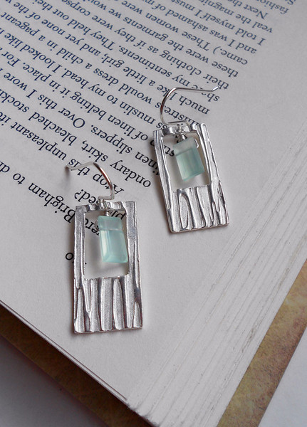 """Funky Fine Silver Rectangle Earrings with 'Scratch Design'<br /> <br /> ~ Made by Alasha Lantinga <br /> <a href=""""http://www.facebook.com/saffirejewelry"""">http://www.facebook.com/saffirejewelry</a> <a href=""""http://www.alashalantinga.com"""">http://www.alashalantinga.com</a>"""