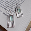 "Funky Fine Silver Rectangle Earrings with 'Scratch Design'<br /> <br /> ~ Made by Alasha Lantinga <br /> <a href=""http://www.facebook.com/saffirejewelry"">http://www.facebook.com/saffirejewelry</a> <a href=""http://www.alashalantinga.com"">http://www.alashalantinga.com</a>"