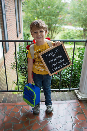 First Day of Preschool   August 2017