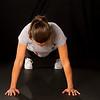 Lindsay Bloom 8.5 months along, doing push ups