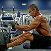 Tony DiCosta at Health & Strength Gym doing cable rows