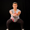Lindsay Bloom 8.5 months along, doing squats