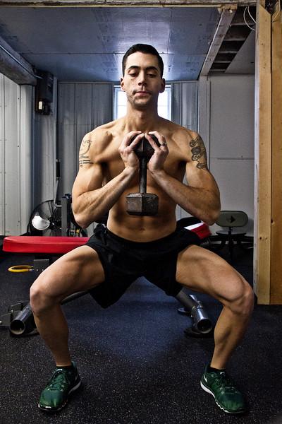 Mike Senatore doing goblet squats