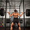 Lindsay Bloom doing squats
