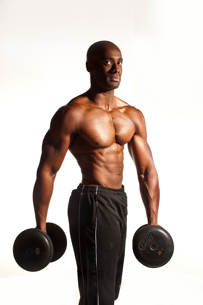 Regie Simmons with Dumbbells