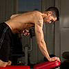 Mike Senatore doing one armed dumbbell rows