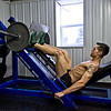 Mike Senatore doing leg presses