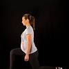 Lindsay Bloom 8.5 months along, doing lunges