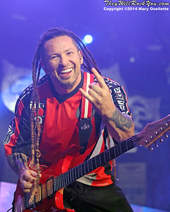 Five Finger Death Punch, Volbeat and Hellyeah perform on September 26, 2014 at Tsongas Arena in Lowell, MA