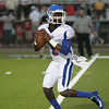 Noxubee County quarterback Tamorris Conner looks downfield for a target in the Tigers' season opener against the Yellowjackets in Starkville on Friday, August 22. Photo by Kevin Warren