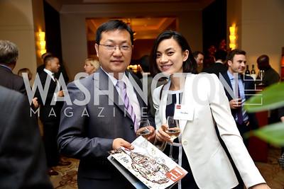 Jiang Pan, Yin Zou. Photo by Tony Powell. FP Diplomat of the Year Award. Mandarin Oriental. October 29, 2014