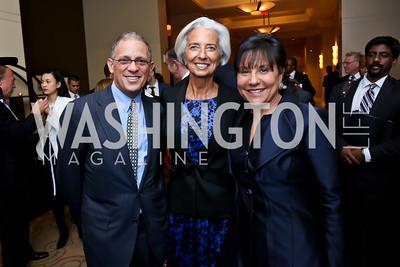 Fred Hochberg, Christine Lagarde, Sec. Penny Pritzker. Photo by Tony Powell. FP Diplomat of the Year Award. Mandarin Oriental. October 29, 2014