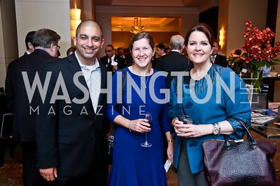 Jamil Jaffer, Val Fowler, Rachel Pearson. Photo by Tony Powell. FP Diplomat of the Year Award. Mandarin Oriental. October 29, 2014