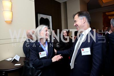 Hon. Meg Lundsager, Sean Hager. Photo by Tony Powell. FP Diplomat of the Year Award. Mandarin Oriental. October 29, 2014