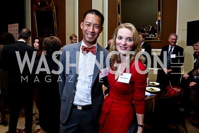 Ben Chang, Alyse Nelson. Photo by Tony Powell. FP Diplomat of the Year Award. Mandarin Oriental. October 29, 2014