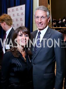 Maryam Yeganeh, Steve Powell. Photo by Tony Powell. FP Diplomat of the Year Award. Mandarin Oriental. October 29, 2014